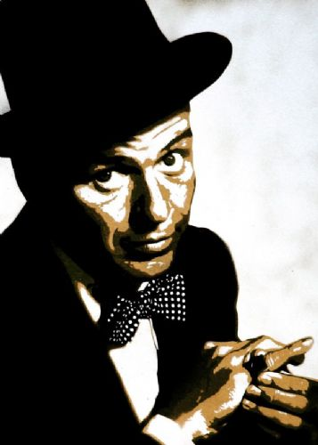 FRANK SINATRA - OIL PAINT STYLE - canvas print - self adhesive poster - photo print